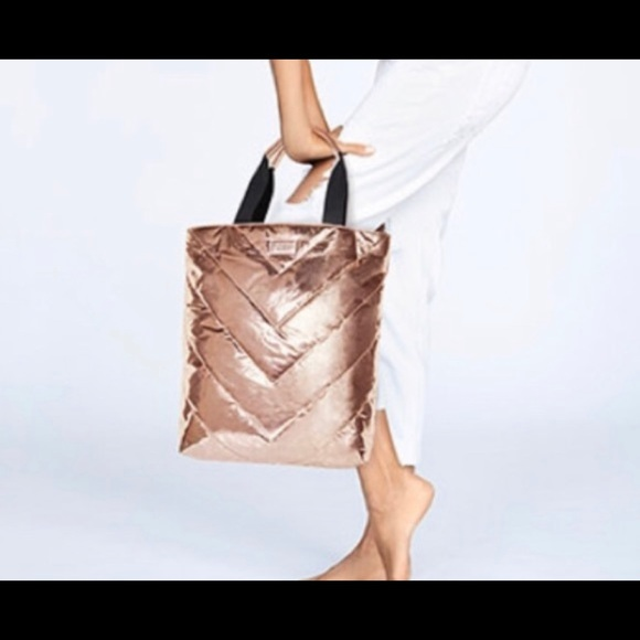 Victoria's Secret Handbags - Victoria Secrets  Rose Gold Tote bag NEW